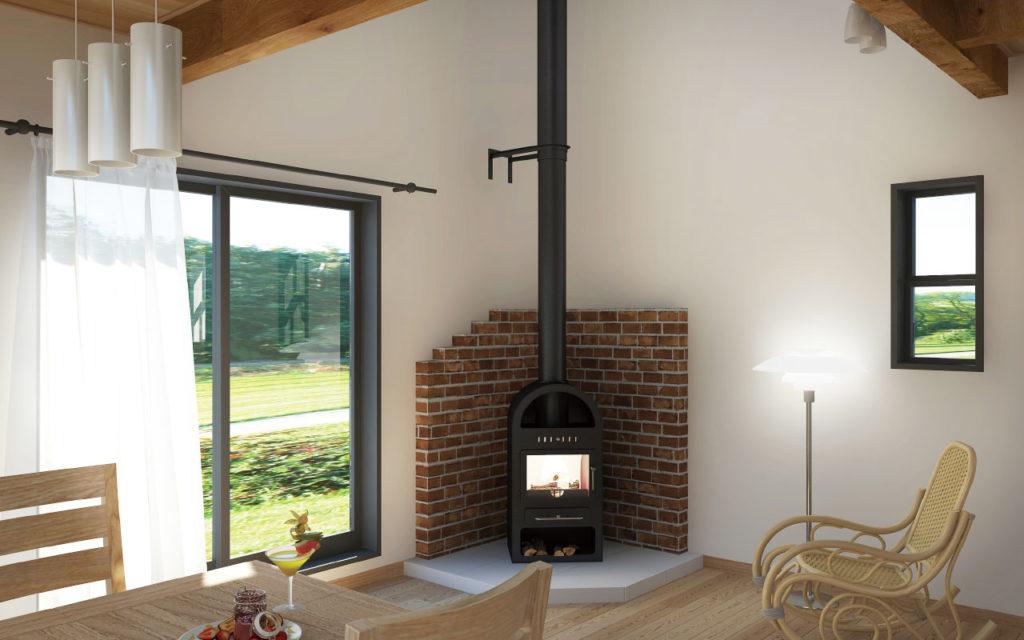 暖炉のある家